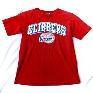 Majestic Los Angeles Clippers Kid's Red T-Shirt M